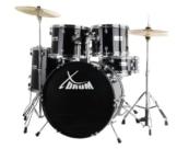 XDrum Classic Schlagzeug Komplettset Schwarz inkl. Schule + DVD -