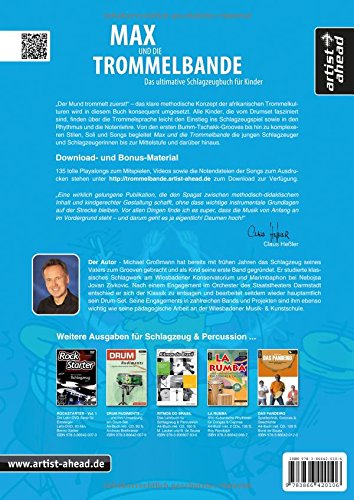 Max und die Trommelbande: Das ultimative Schlagzeugbuch für Kinder (inkl. Download). Lehrbuch. Musiknoten. -