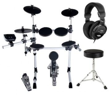 XDrum DD-402 E-Drum-Set Komplettset inkl. Hocker & Kopfhörer -