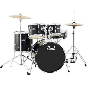 Pearl Roadshow RS505C C31 Black Schlagzeug Drumset + KEEPDRUM Drumsticks & Kopfhörer -