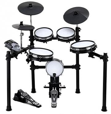XDrum DD-530 E-Drum Set mit Mesh Heads (elektronisches Schlagzeug, Kopfhörer-Anschluss, 400 Sounds) -